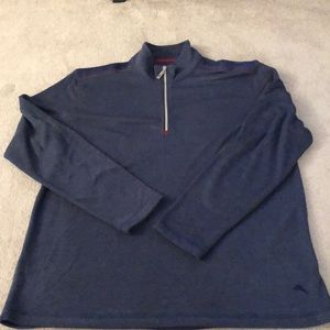 Tommy Bahama quarter zip pull over